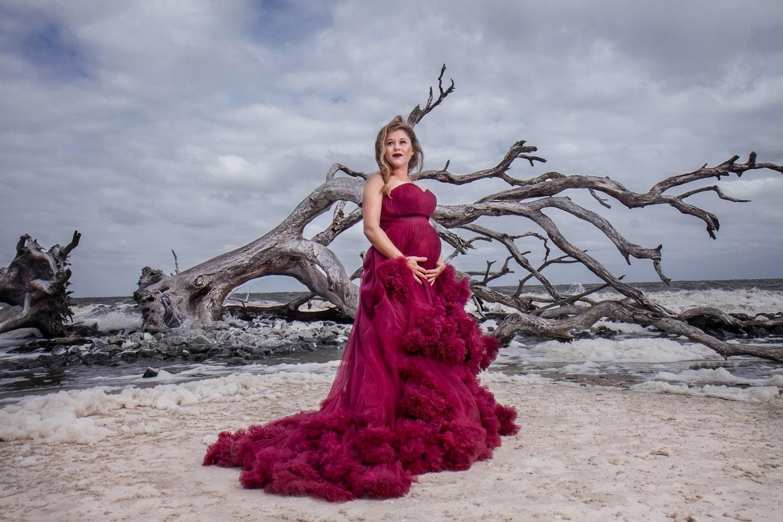 maternity driftwood beach