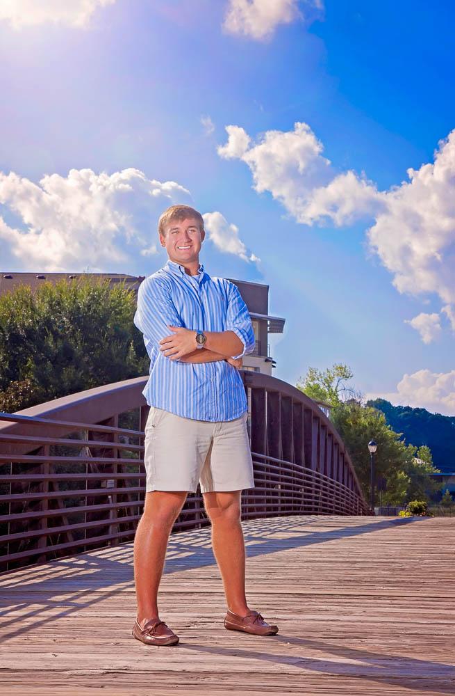 atlanta senior portrait bridge