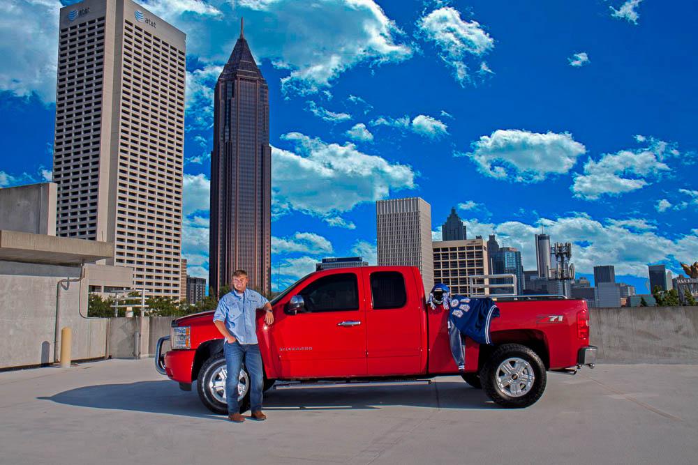 best atlanta skyline senior photography