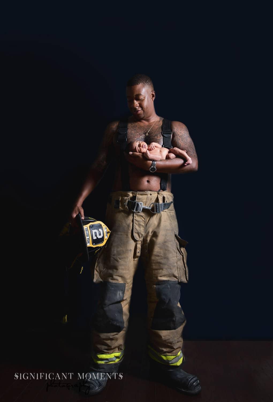 newborn dad fireman